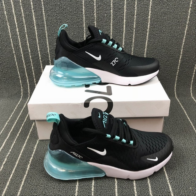 Tenis Nike Air Max 270 Negra Con Azul, Para Dama, Zapatillas