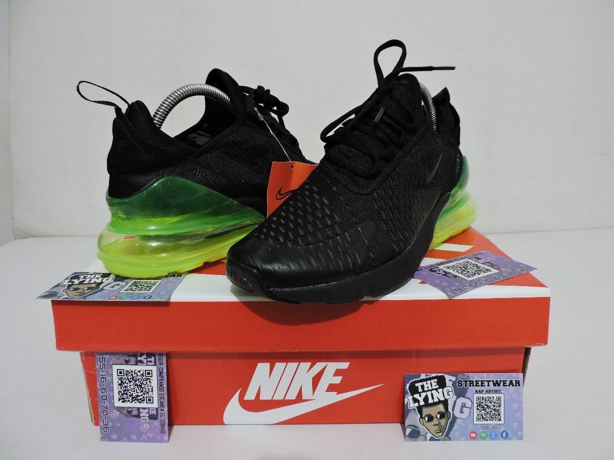 36e2a470e9e43 ... cheap tenis nike air max 270 negro verde en caja envio gratis. cargando  zoom.