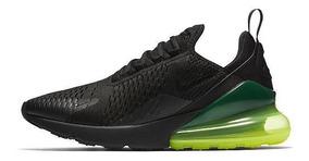 Tenis Nike Air Max 270 Negro Verde Original Caja Liquidacion