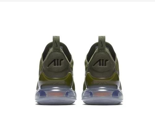 tenis nike air max 270 olive green military oferta especial!