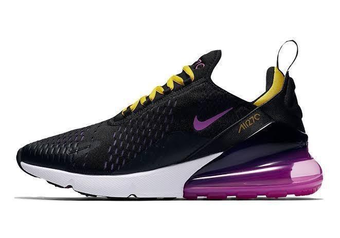 Tenis Nike Air Max 270 Para Dama Negrolila