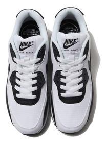 Tenis Nike Air Max 90 Blanco C Negro # 24.5 Mx 100% Originales