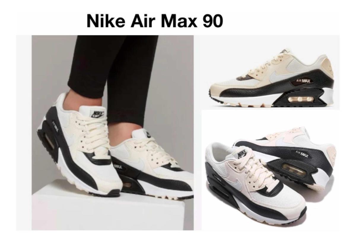Tenis Nike Air Max 90 Crema (#24 Y #24.5 Cm) + Caja + Envio