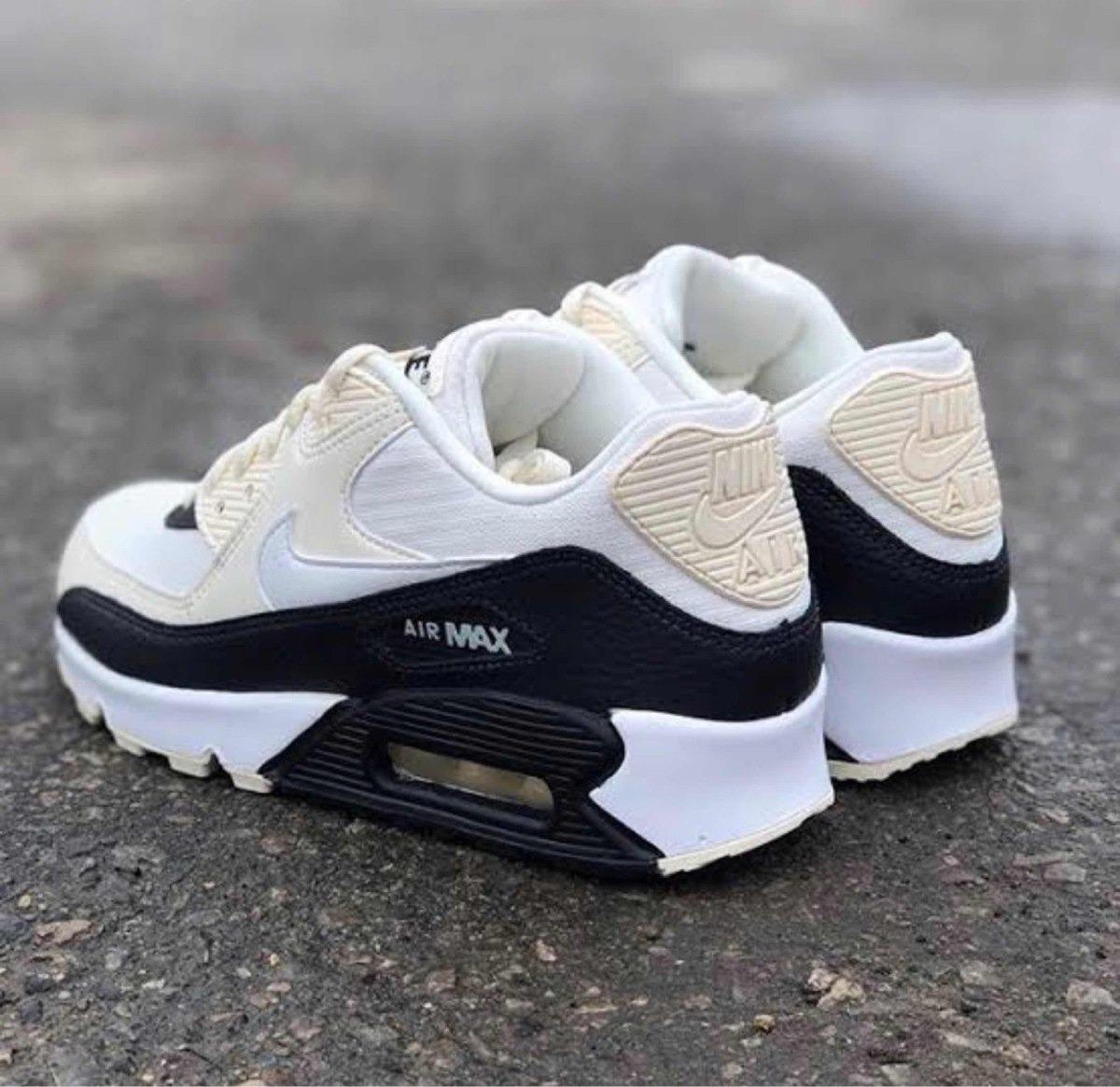 venta al por mayor Tenis Nike Air Max 90 Cremanegro # 24 Y