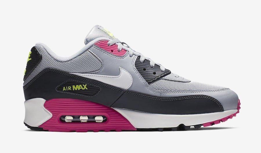 le dernier 81c3c 8aad1 Tenis Nike Air Max 90 Essential Gris, Negro, Rosa# 27 Cm