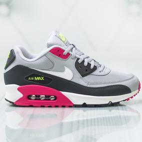 Tenis Nike Air Max 90 Essential Gris, Negro, Rosa # 27 Mx Originales 100%