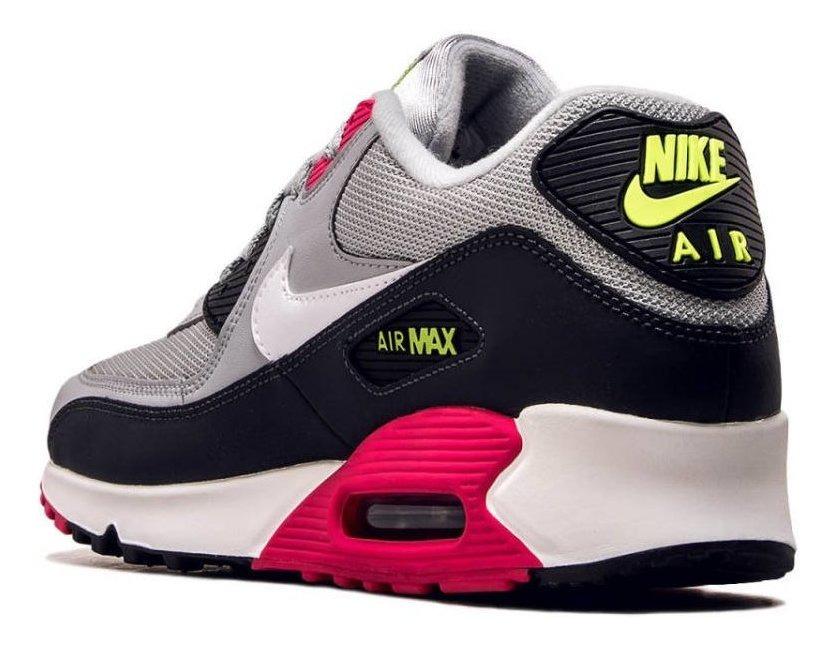 Tenis Nike Air Max 90 Essential Gris,negro,rosa Talla #27 Mx. Envio Gratis!!