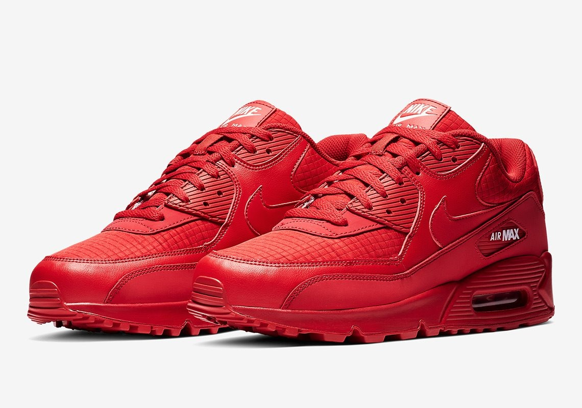 Tenis Nike Air Max 90 Essential Rojo #8.5 Mx 100% Originales
