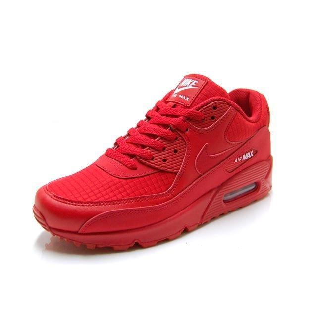 Tenis Nike Air Max 90 Essential Rojo Talla 28.5 Cm Original