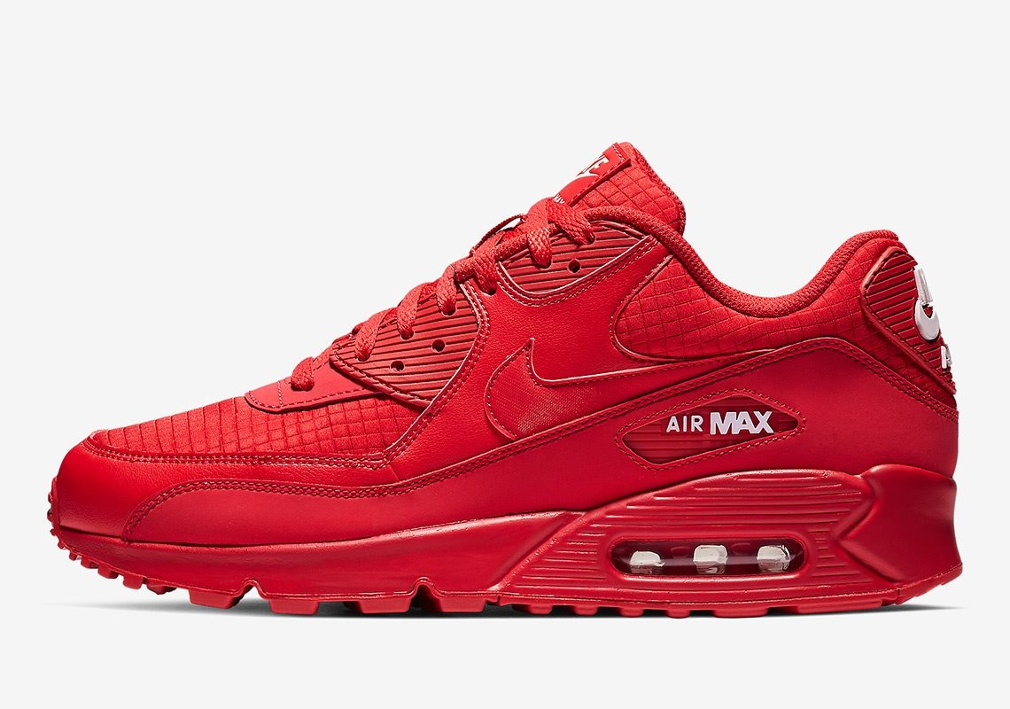 Tenis Nike Air Max 90 Essential Rojos # 8.5 Original 100%