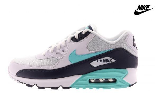 Tenis Nike Air max 90 Essential Whiteaurora Greenobsidian