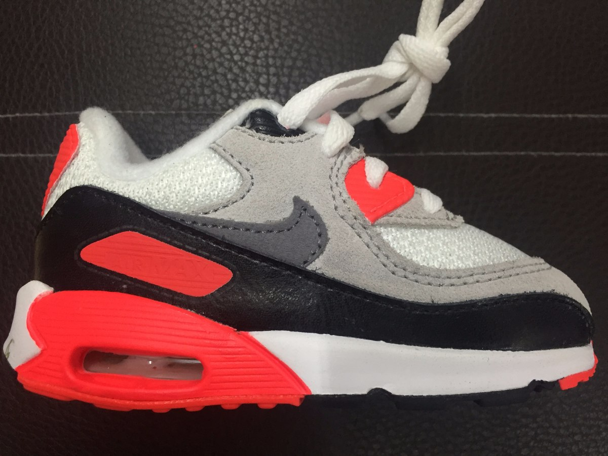Tenis Nike Air Max 90 Infrared Jnr Nuevo 22al24 Cm