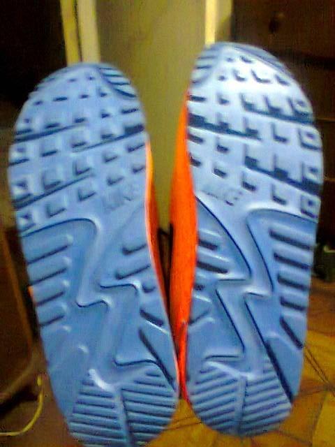 ee40dc80e0d Tenis Nike Air Max 90 Laranja E Azul Nº42 Original Na Caixa - R  175 ...