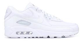 Clásico Zapatos NIKE Air Max 90 Leather 302519 113 Blanco Hombre