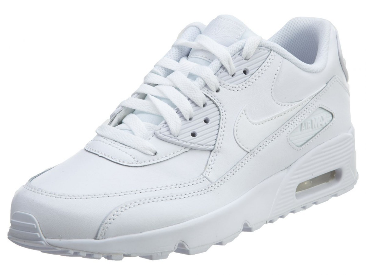 tenis nike air max 90 leather 833412-100 original junior. Cargando zoom. 457003c14a908