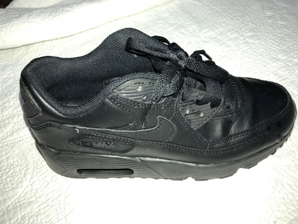 tenis nike air max 90 leather infantil preto. Carregando zoom. 6459de583b8ed
