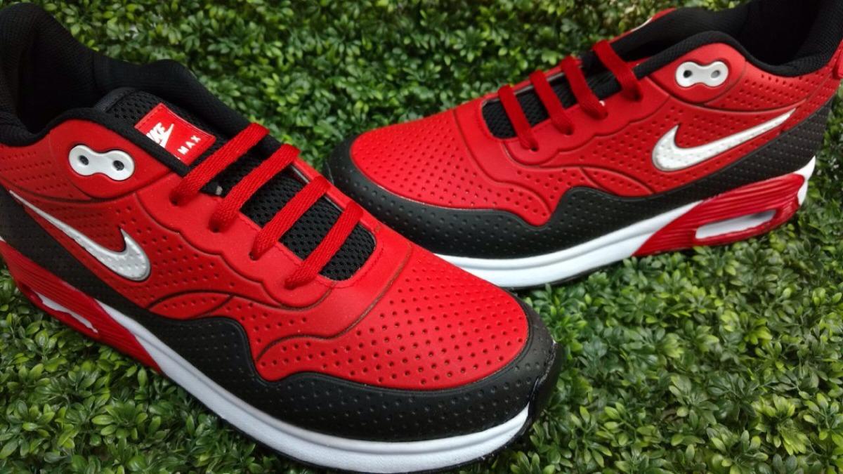 Tenis Nike Air Max 90 Para Caballero Negro Rojo -   599.00 en ... aa682929bbf