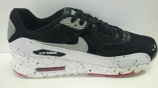 ba1b8bef614 Tenis Nike Air Max 90 Preto E Cinza Nº38 Ao 43 Original - R  550