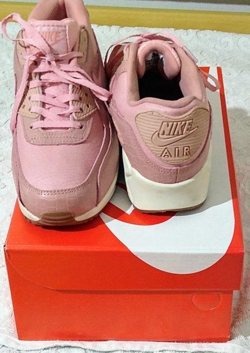 Tenis Nike Air Max 90 Rosa E Branco Nº38 Original Na Caixa