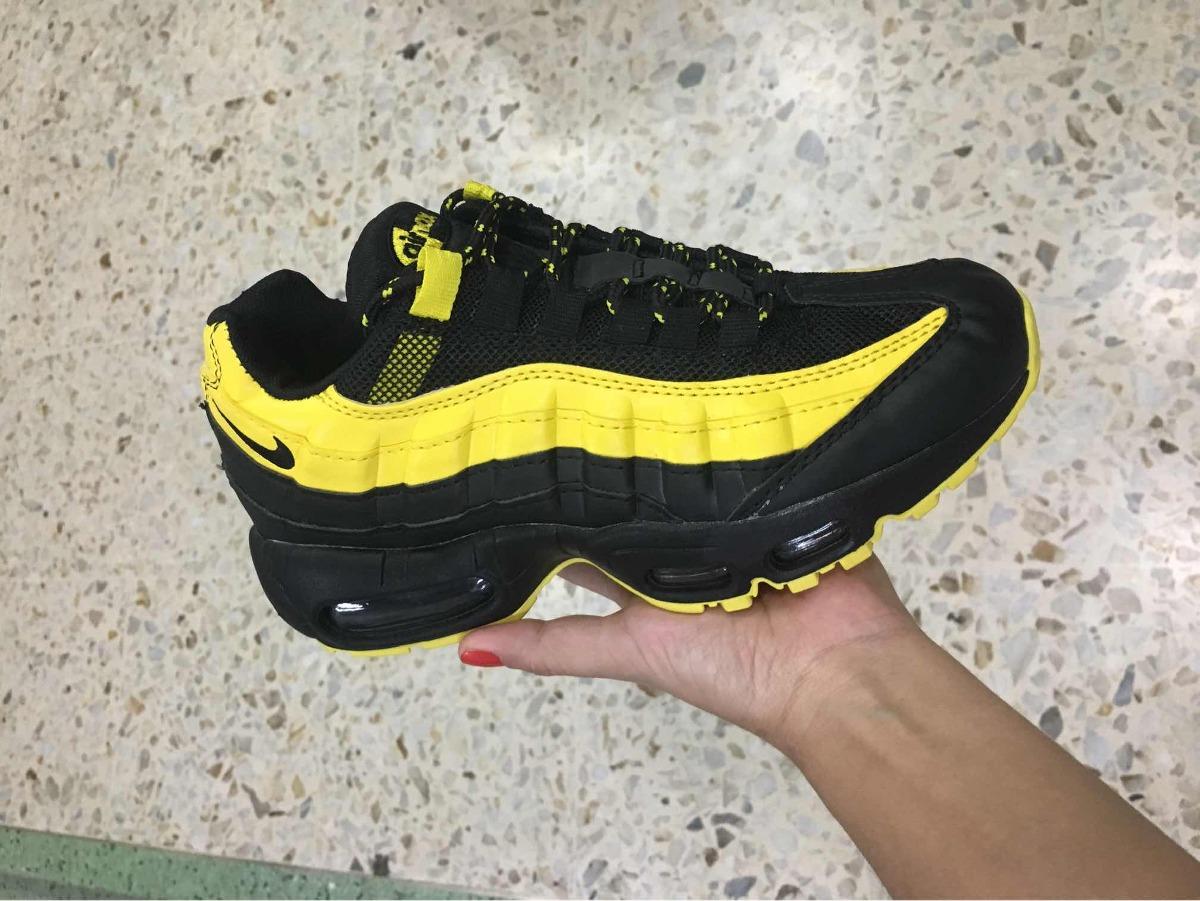 air max negro amarillo