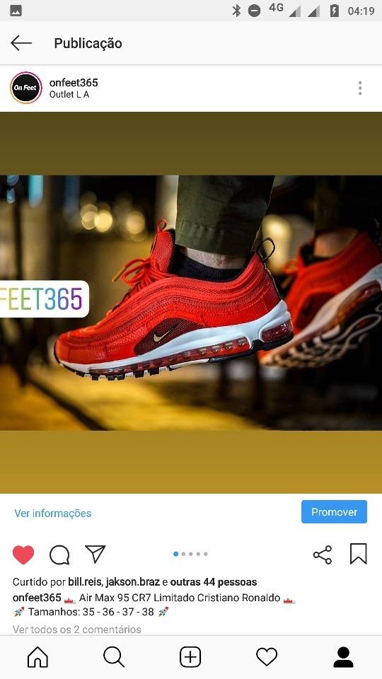 promo code ef192 746a6 Tenis Nike Air Max 95 Cr7 Limitado Cristiano Ronaldo 37 E 38