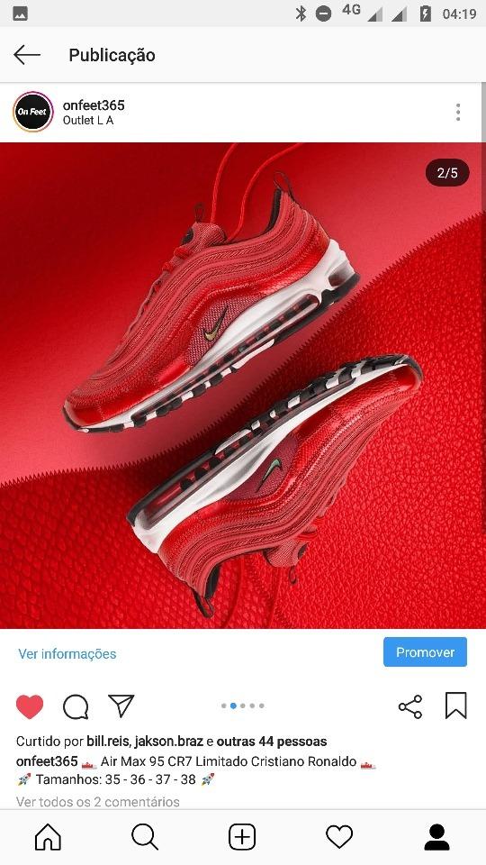 strona internetowa ze zniżką niepokonany x unikalny design Tenis Nike Air Max 95 Cr7 Limitado Cristiano Ronaldo 37 E 38