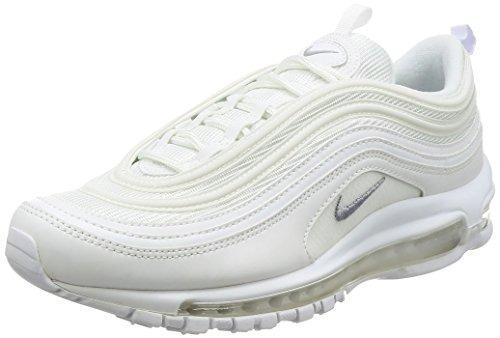 4c0cd9d1994 Tenis Nike Air Max 97 Blancos Con Plateado Zapatillas Unisex ...