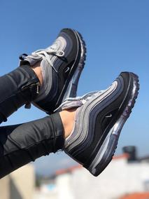 Tenis Nike Air Max 97 Gris Negro Dama Y Caballero
