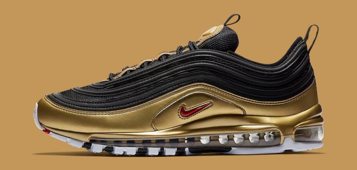 Tenis Nike Air Max 97 Qs Metallic Gold At5458 002 Originales