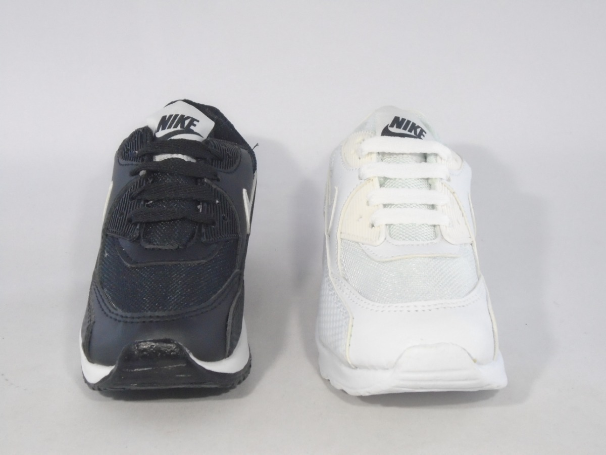 Tenis Nike Air Max Negro Blanco Niños Casual Deportivos Moda