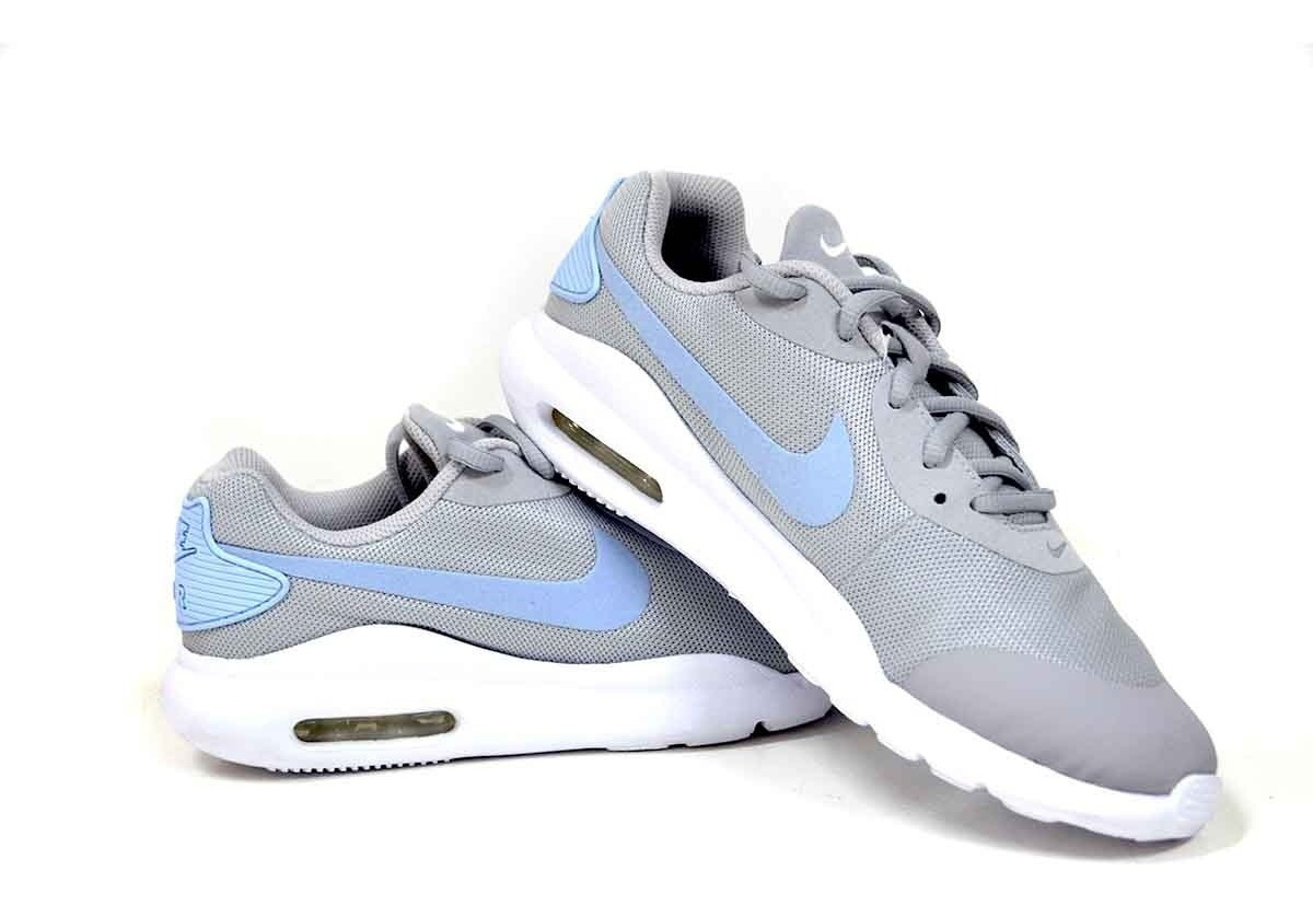 Tenis Nike Air Max Oketo Gris y Azul   Netshoes MX