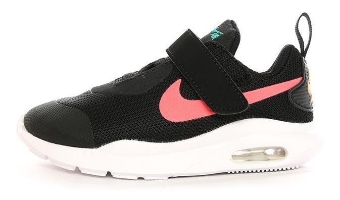 Tenis Nike Air Max Oketo Tdv Ar7421 008 Negro & Rosa Primeros Pasos #12 Al #16 Envío Gratis