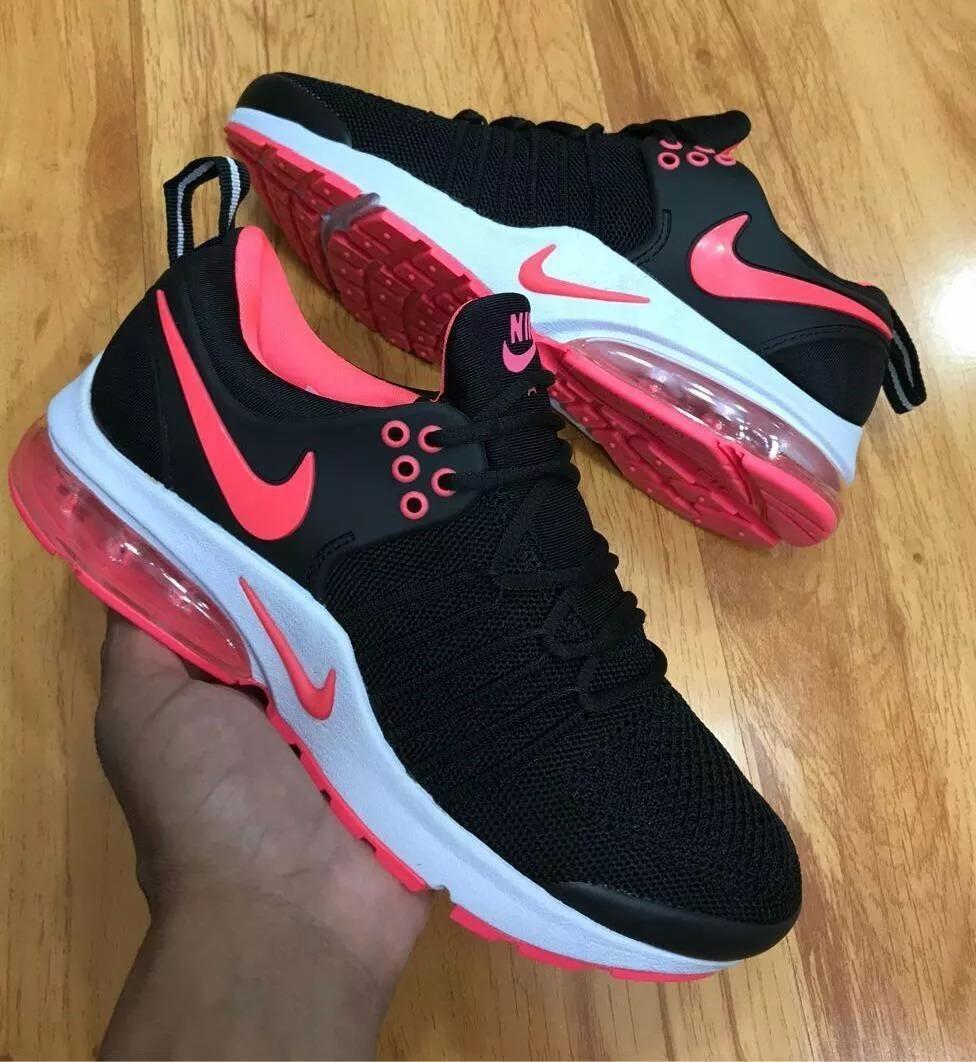 Tenis Nike Air Max Presto Xs Negros Con Fucsia Dama, Zapatil