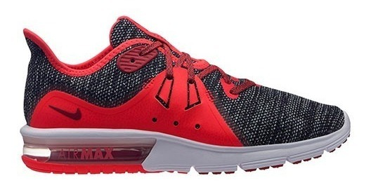 Tenis Nike Air Max Sequent 3 908993 017 Gris rojo Dama Pv