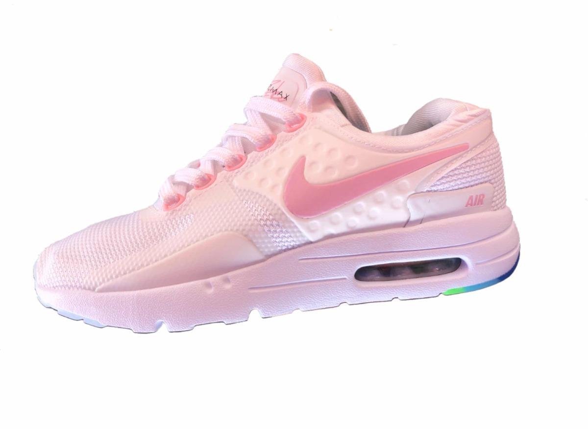 wholesale dealer eaabd 91362 italy tenis nike air max zero be true blanco con rosa. cargando zoom. 9a6ed