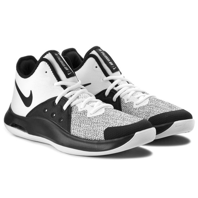 dcd3be28977 tenis nike air versatile lll basquet blanco-negro hombre. Cargando zoom.