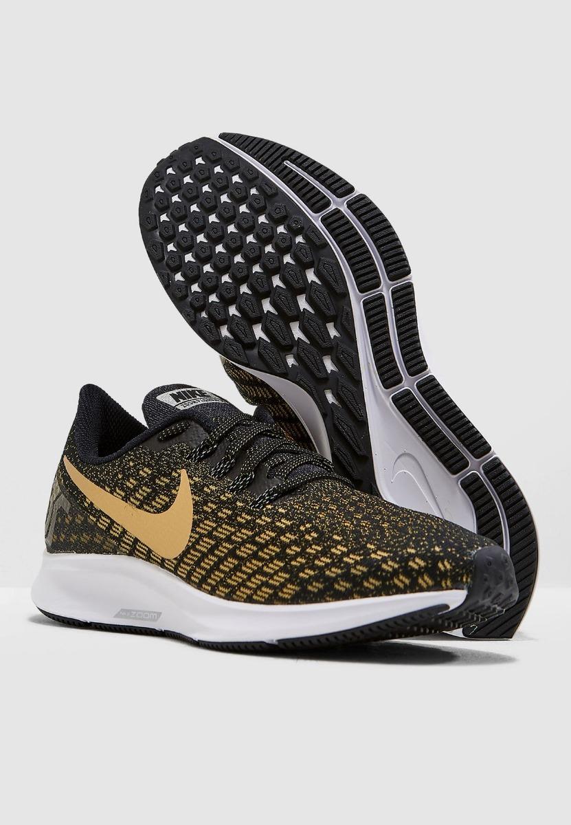 muy baratas en stock buscar auténtico Tenis Nike Air Zoom Pegasus 35 Negro Dorado Mujer Run Meses