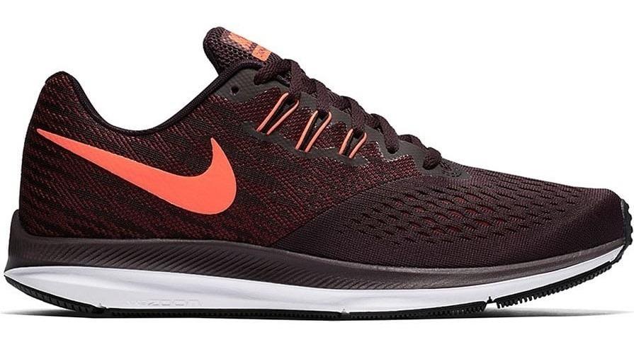 Tenis Nike Air Zoom Winflo 4 898466 600 Bordó Running Men