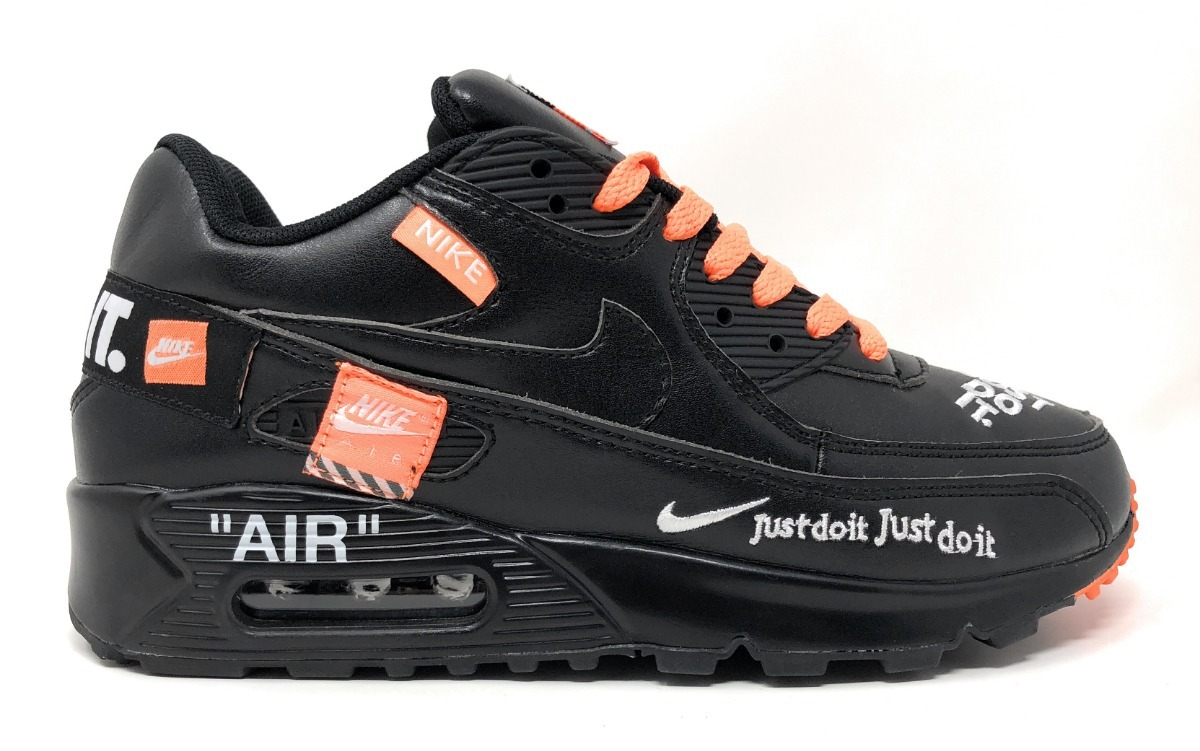 tenis nike airmax90 leather offwhite negro hombre. Cargando zoom. 0049712874b50