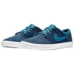 Tenis Nike Deportivo Sb Mujer Textil Azul Marino 25788 Dtt