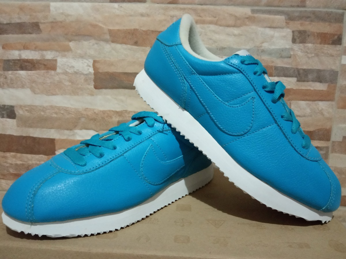 check out 69f95 5aca9 Tenis Nike Cortez 36 Azul Couro Lowrider Chicano