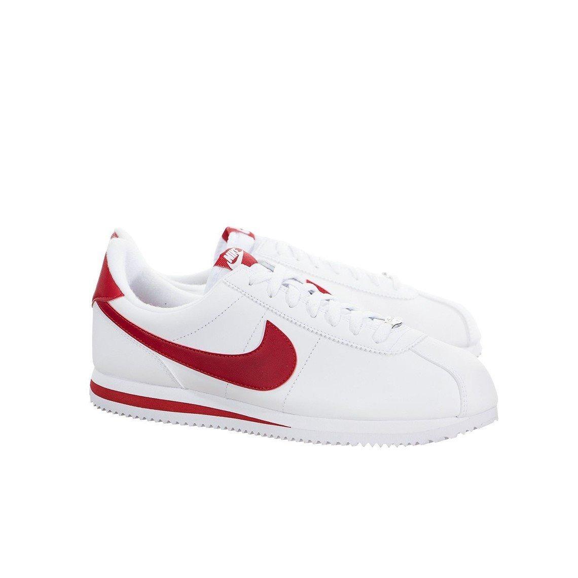 ca333b5a2dd Tenis Nike Cortez Basic Leather Blanco-rojo  6 (piel) -   1