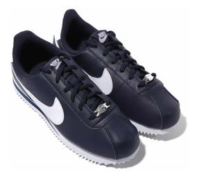 Tenis Nike Cortez Basic Azul # 23 Cm 100% Originales C Caja