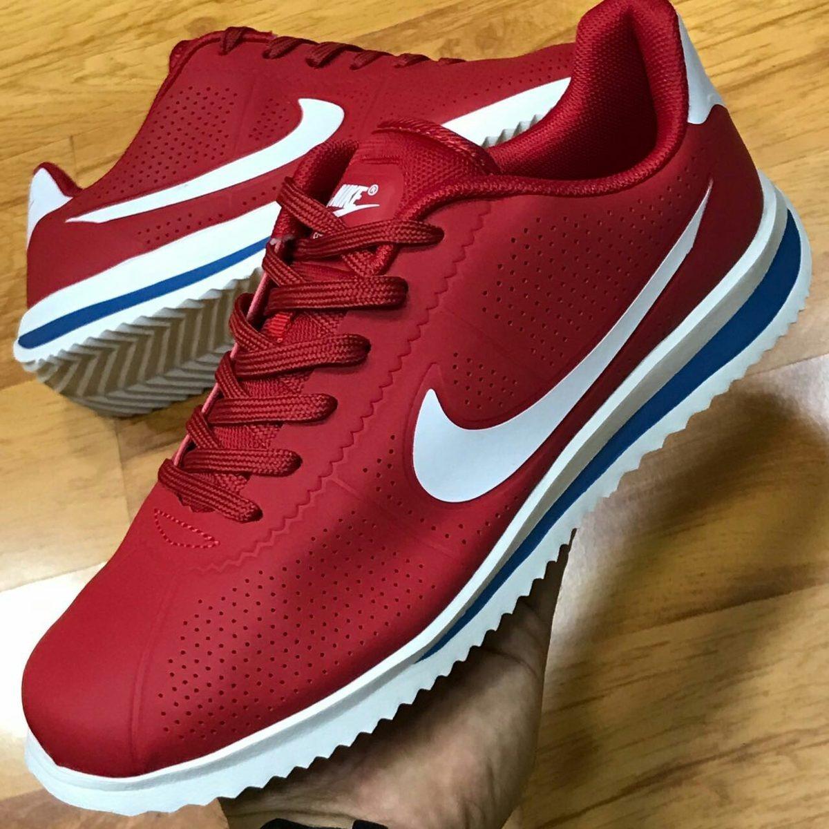 Zapatillas Nike Cortez Basic Se Blanca, Roja Y Azul Hombre