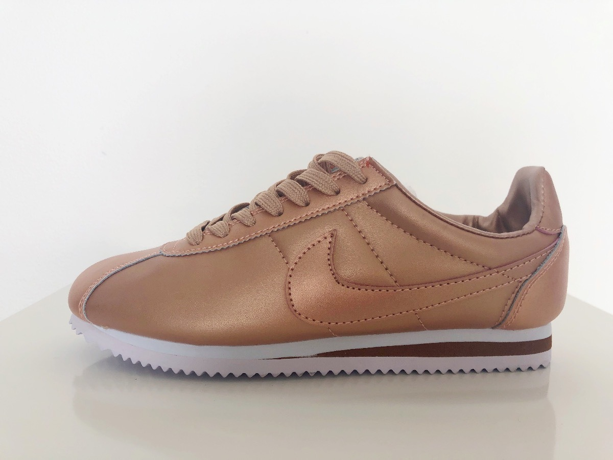 outlet store aeced 3913f Tenis Nike Cortez Rose Gold (mujer)