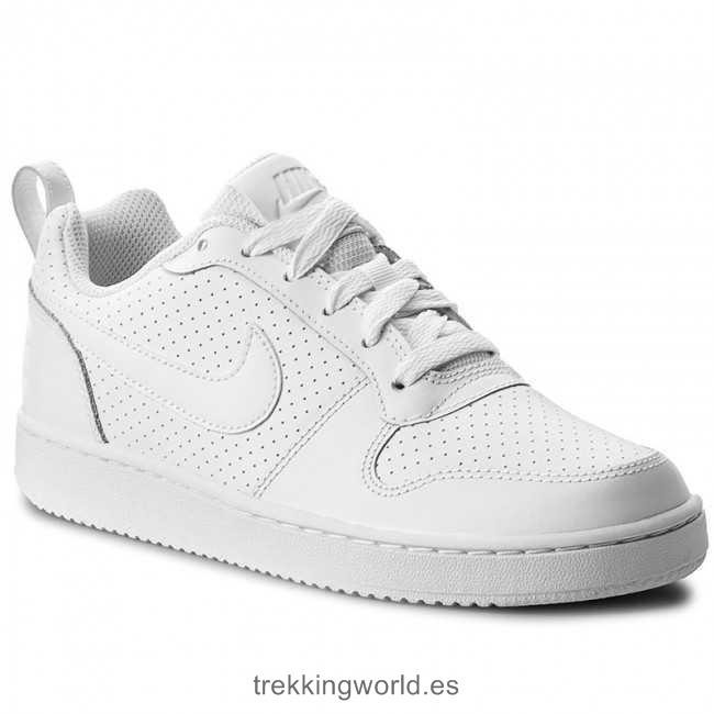 66b38734e51 Tenis Nike Court Borough Low 844905 110 Blanco -   1