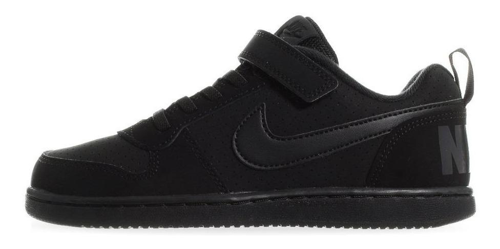la compra auténtico última tecnología gran ajuste Tenis Nike Court Borough Low - 870025001 - Negro - Niños ...