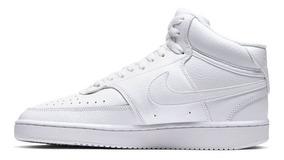 Tenis Nike Court Vision Bota Mujer Blanco Moda Cd5436-100