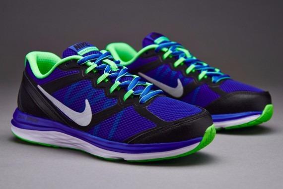 ddf61ec1e17e Tenis Nike Dual Fusion Run 3 Dama Negro Azul -   1