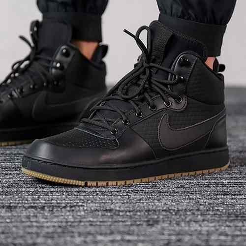 Tenis Nike Ebernon Mid Winter Negro Hombre Aq8754 001